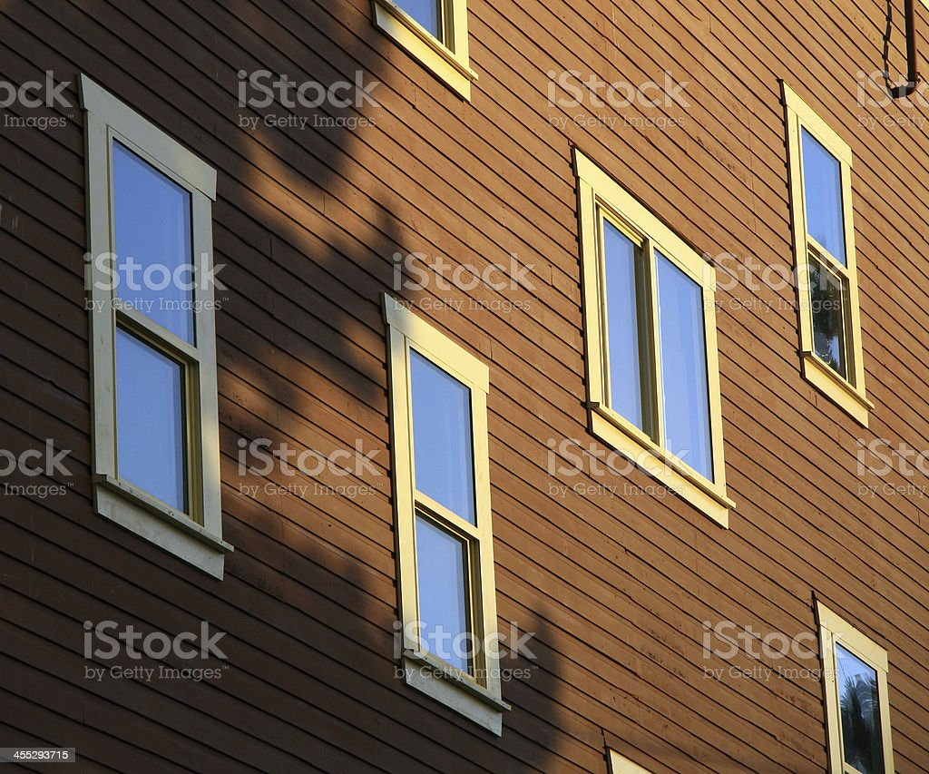 Windowed Wall stock photo
