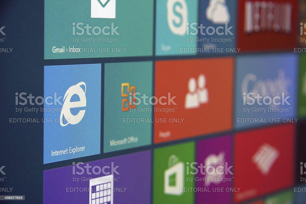 Windows 8 Start stock photo