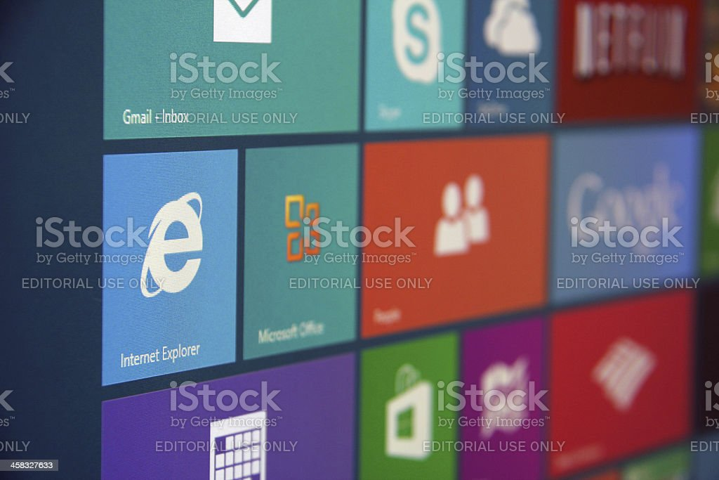 Windows 8 Start stock photo