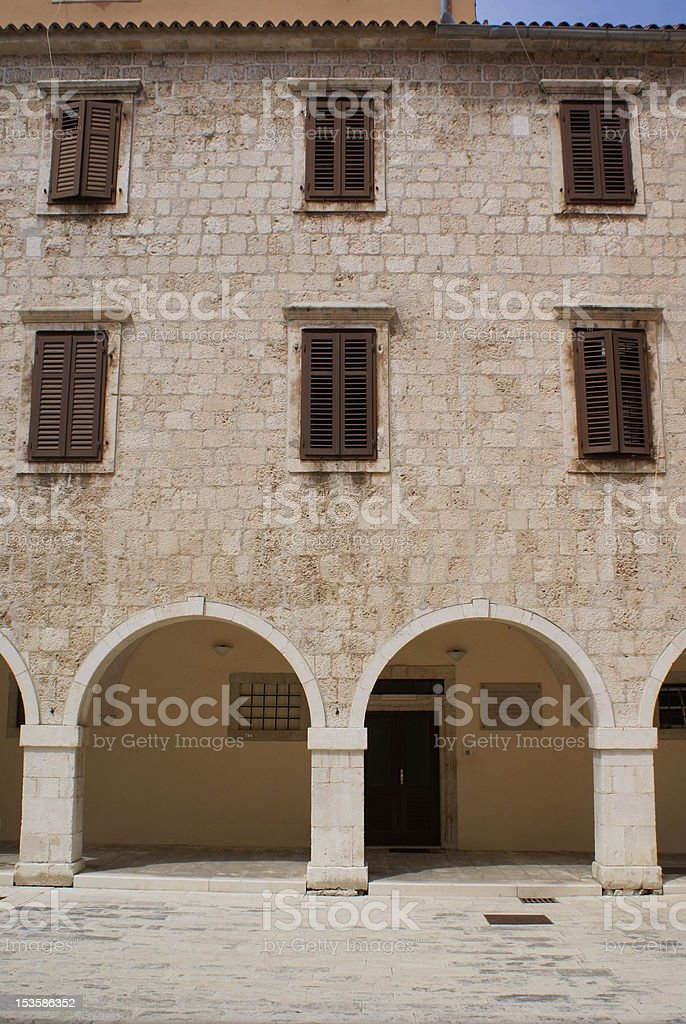 Windows and arches royalty-free stock photo