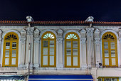 Windows and balconies in colonial architecture in Singapore - 7