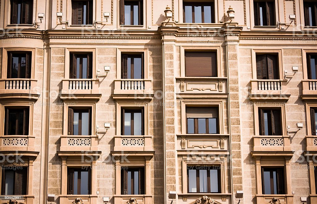 Windows and balconies royalty-free stock photo