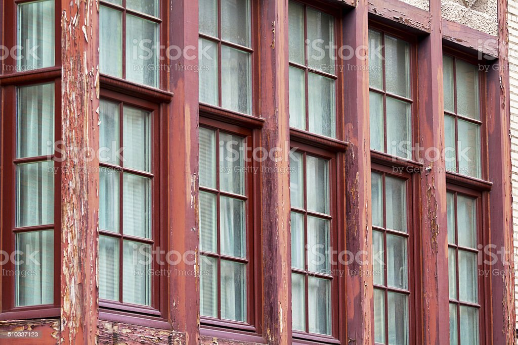 Windows and oriel stock photo
