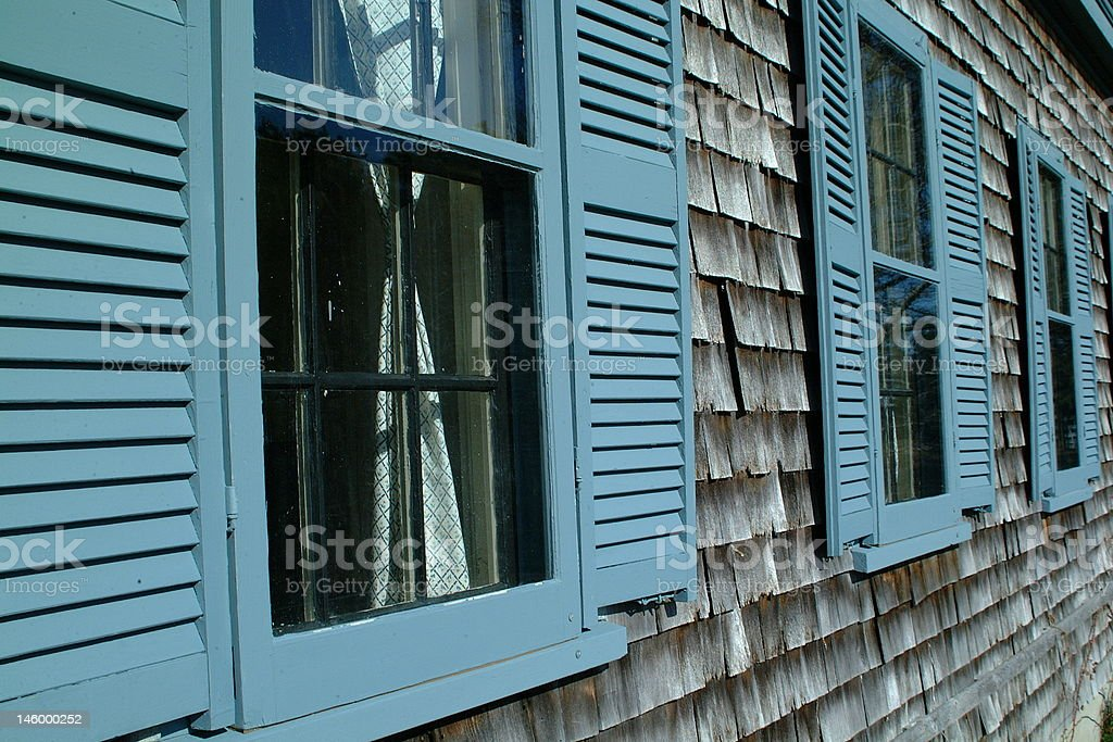 Windows and shudders stock photo