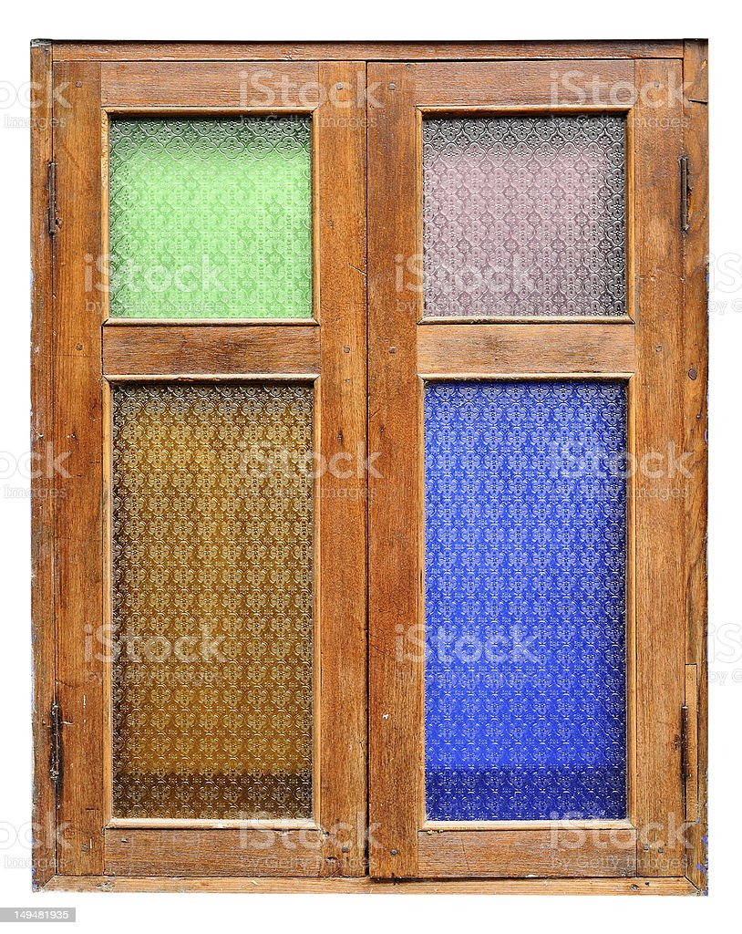 Windows country style royalty-free stock photo