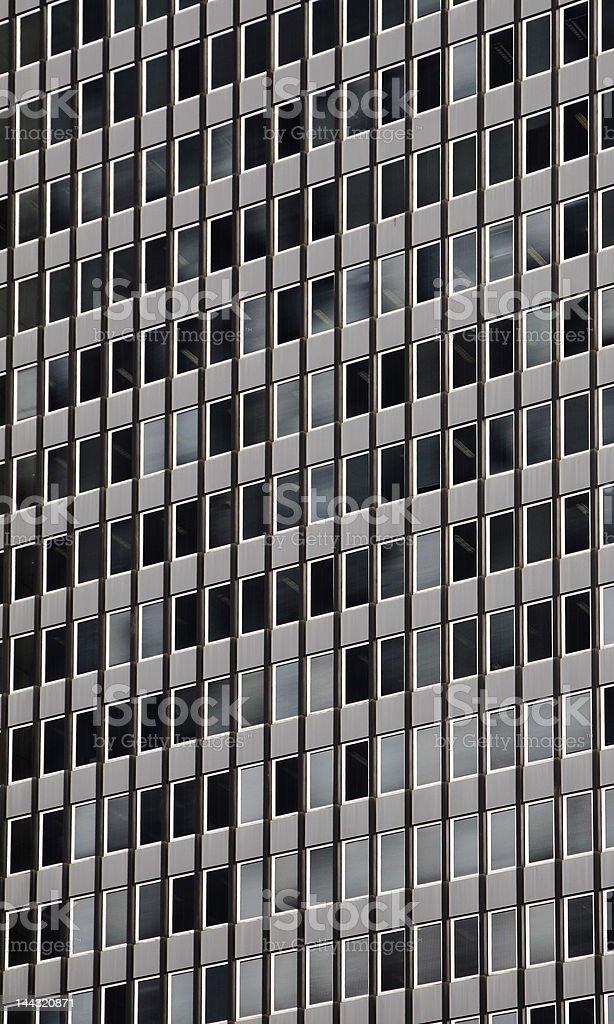 Windows - Grey Urban Building Facade royalty-free stock photo