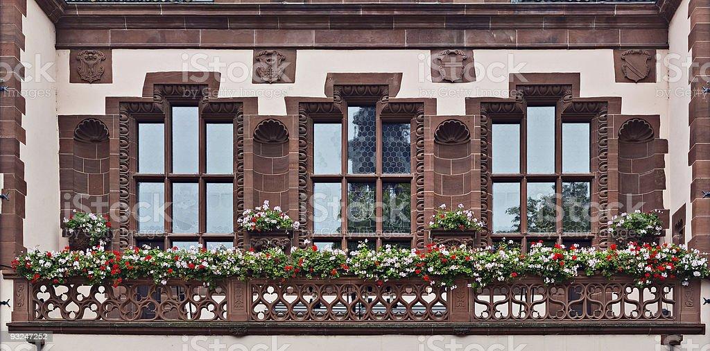 Windows in Freiburg royalty-free stock photo