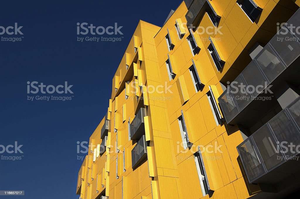 Windows in front of building royalty-free stock photo