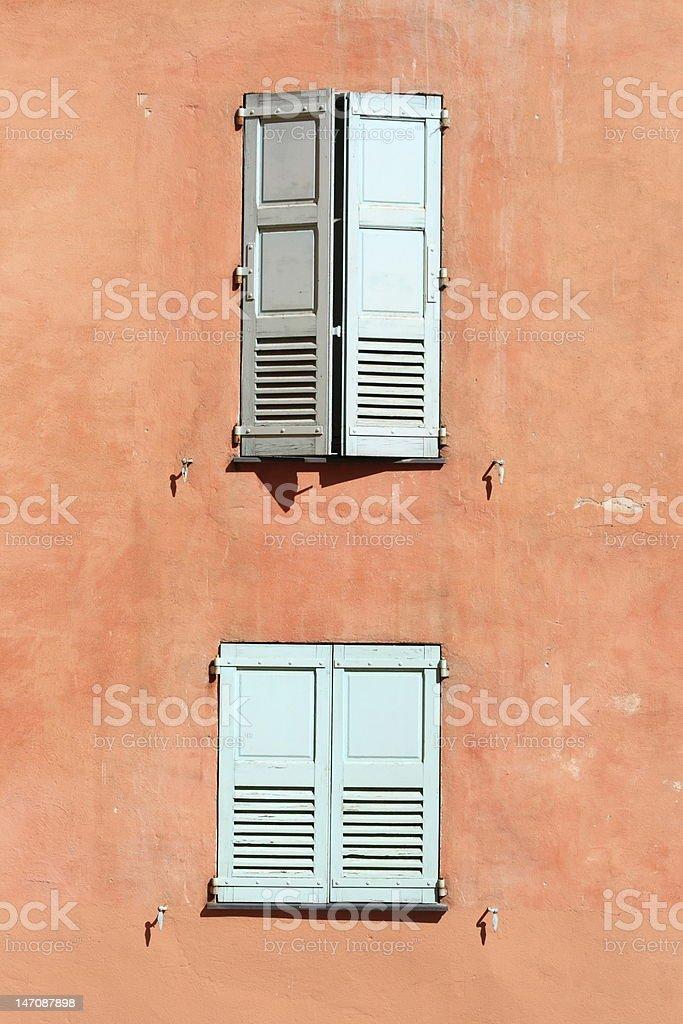 windows in Grasse, near Cote d?Azur, France stock photo