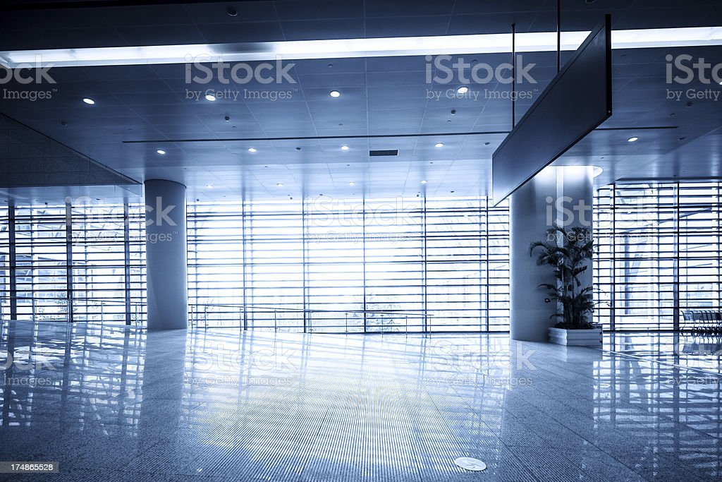 windows in modern airport building royalty-free stock photo