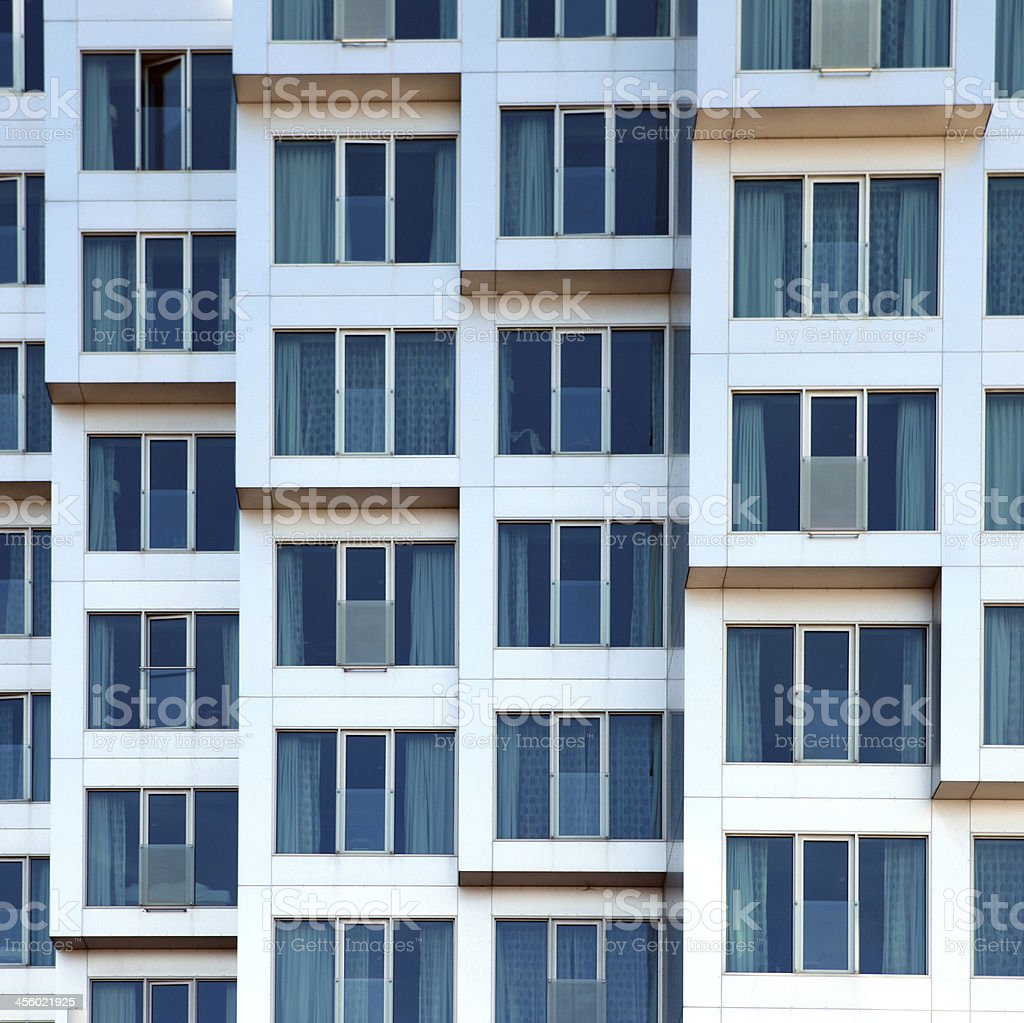 Windows in new building by the habour - Copenhagen, Denmark royalty-free stock photo