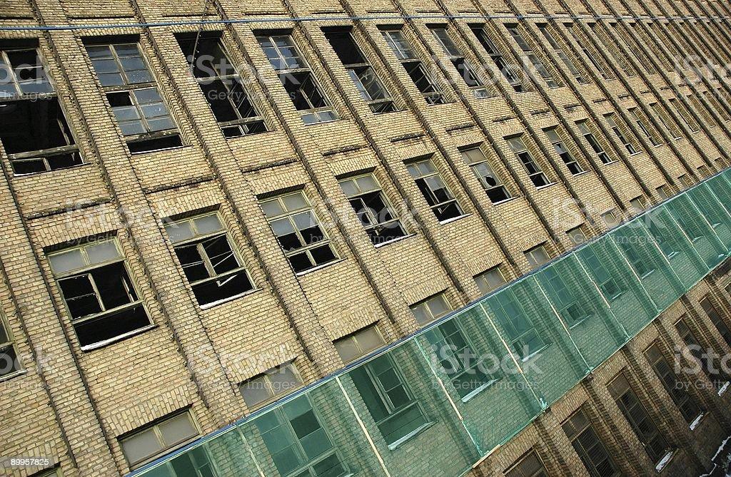 Fenêtres en angle photo libre de droits