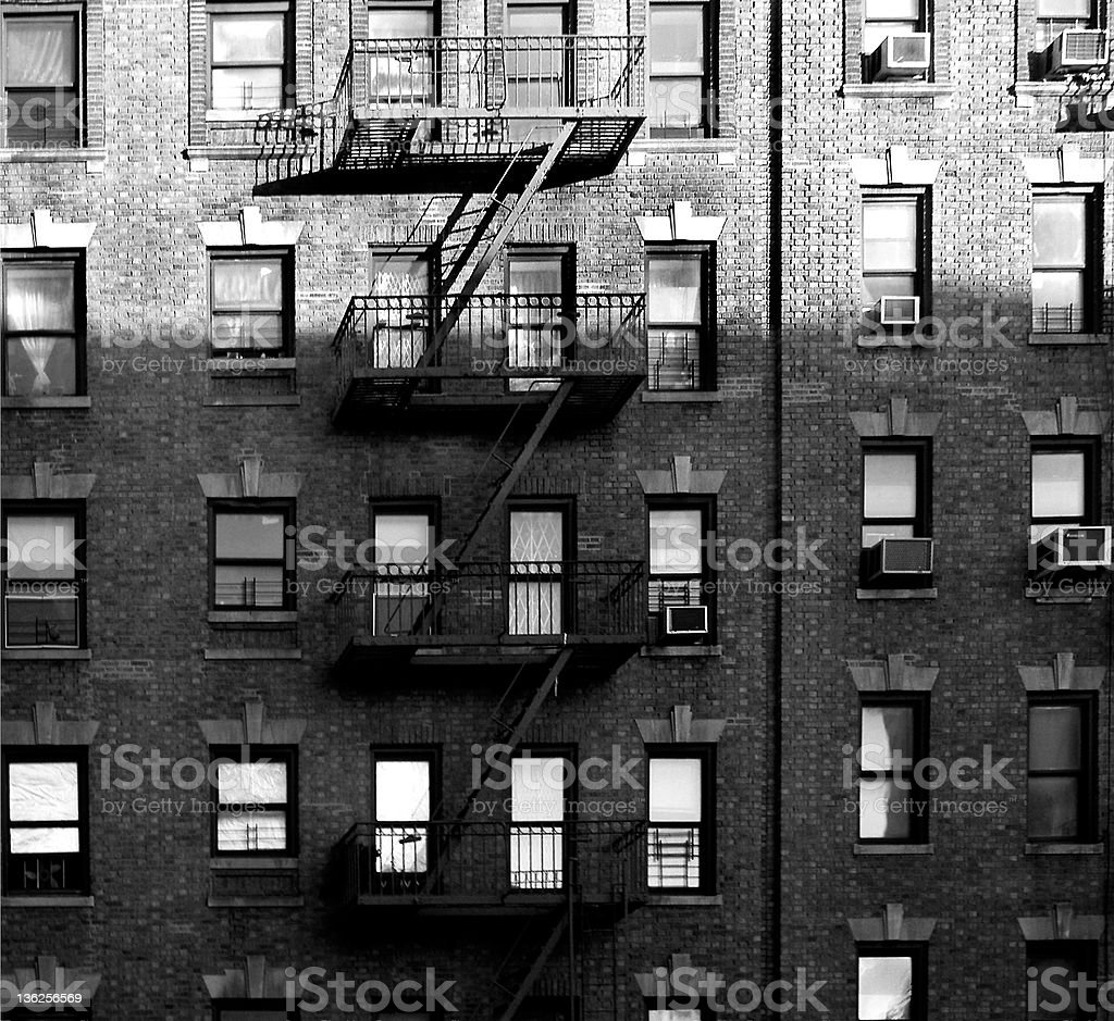 windows in the Bronx royalty-free stock photo