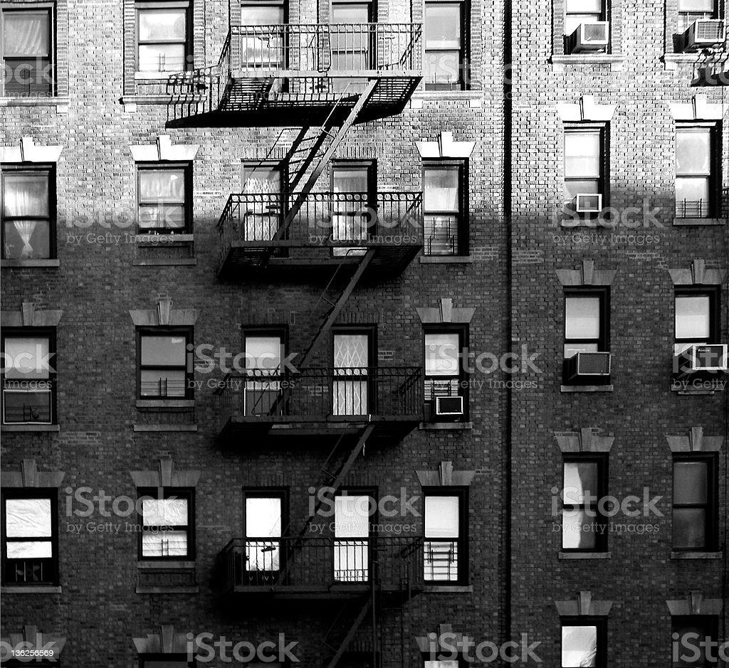 windows in the Bronx stock photo