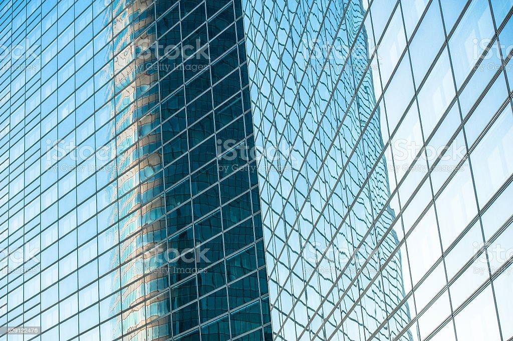 Windows – La Defense Paris, France stock photo