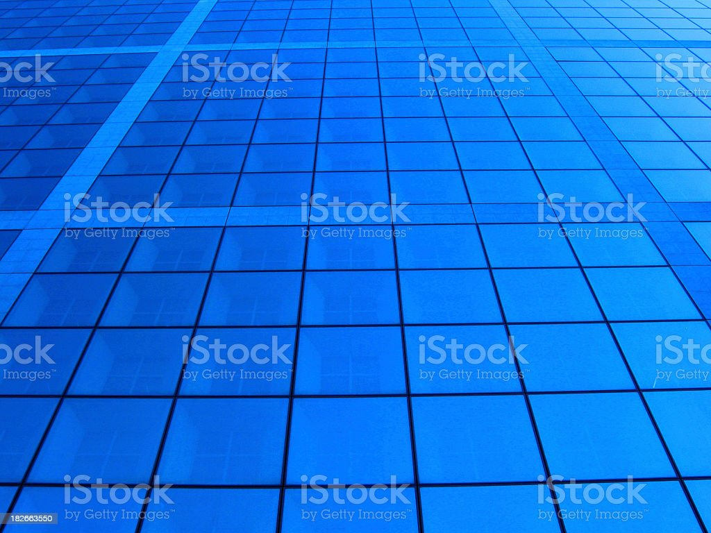 Windows - La Defense Paris stock photo
