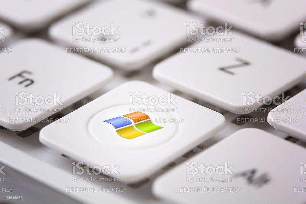 Windows Logo on Keyboad stock photo