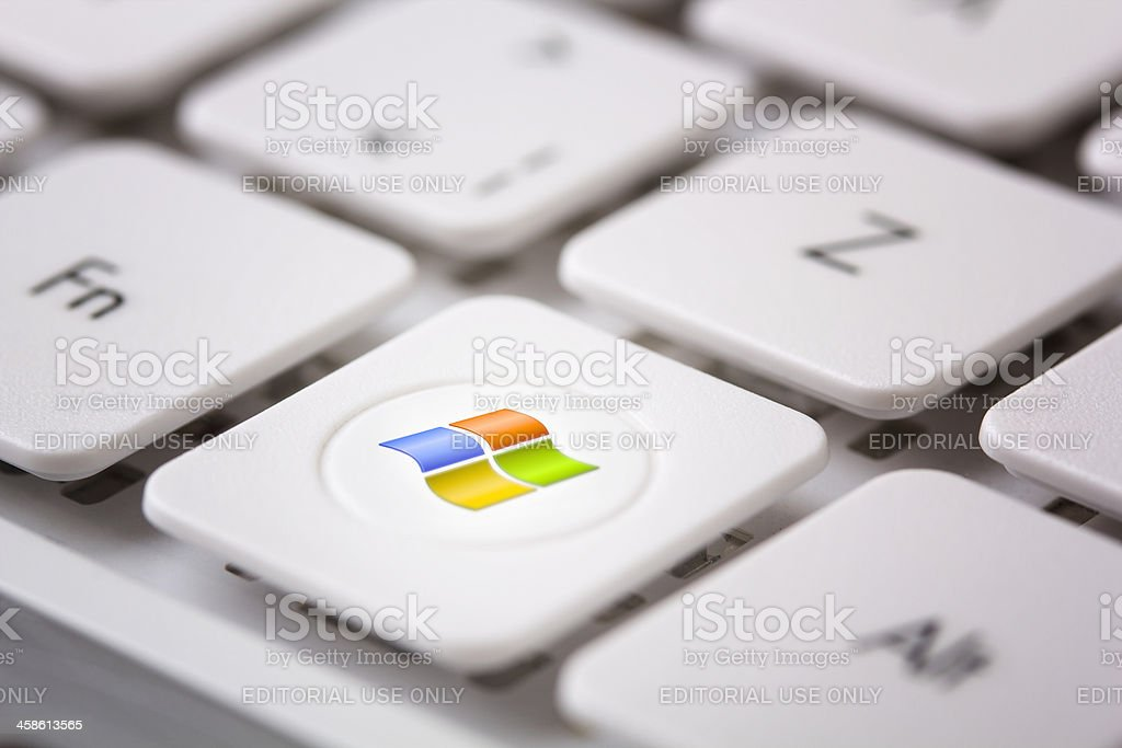 Windows Logo on Keyboad stock photo