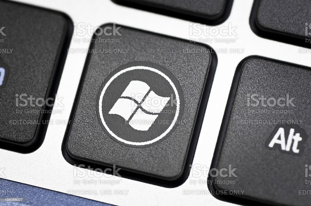 Windows logo on keyboard stock photo