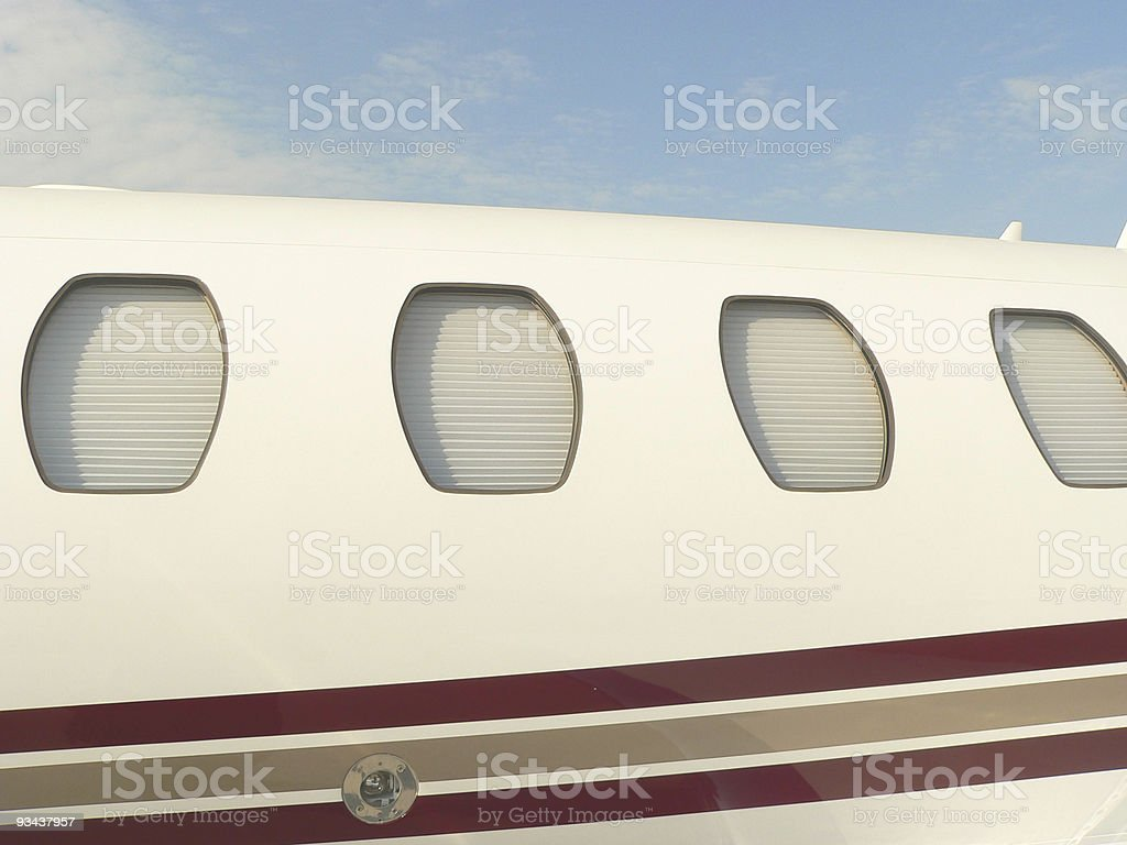 windows of a plane royalty-free stock photo