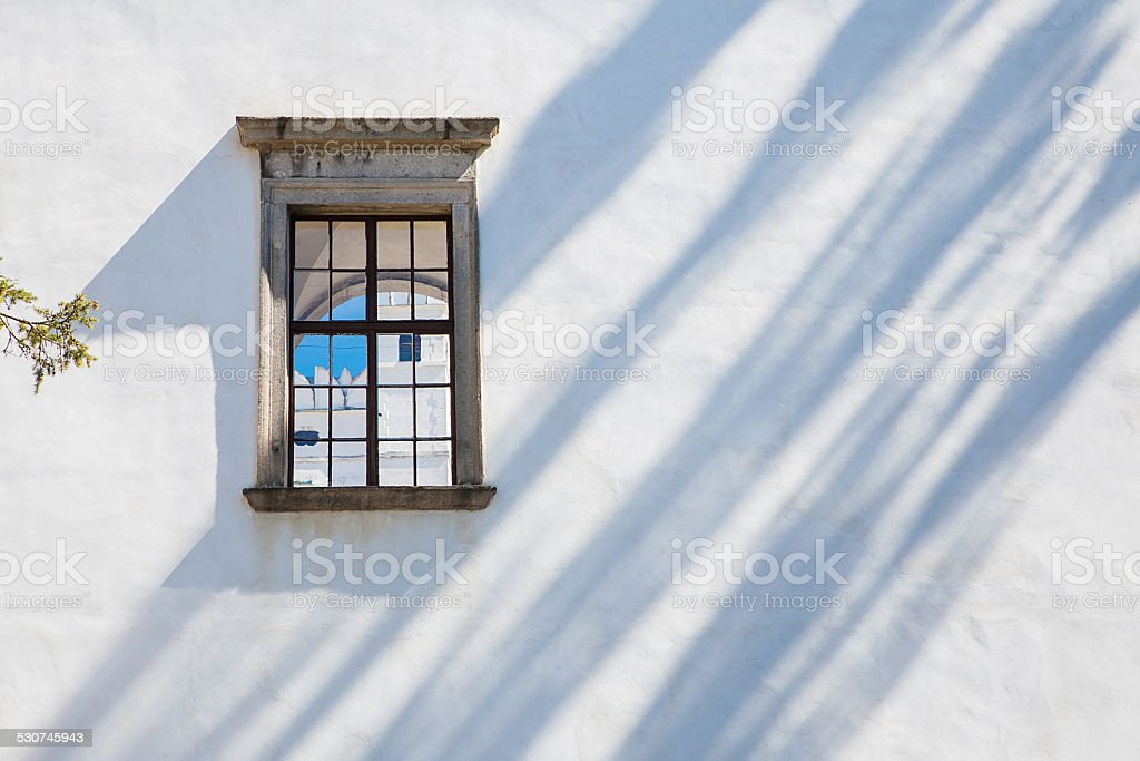 Windows of castle Rozemberk, Czech Republic stock photo