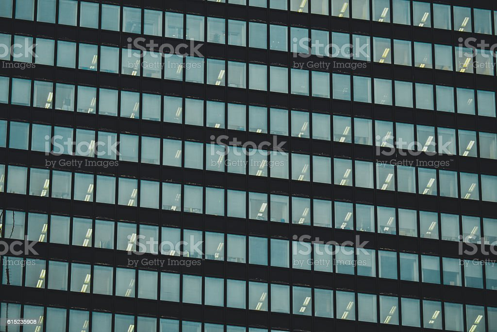 windows of office buildings in the background stock photo