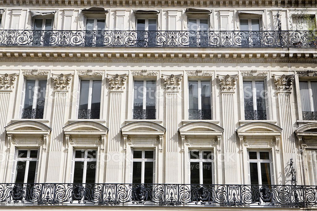 Windows of Paris royalty-free stock photo