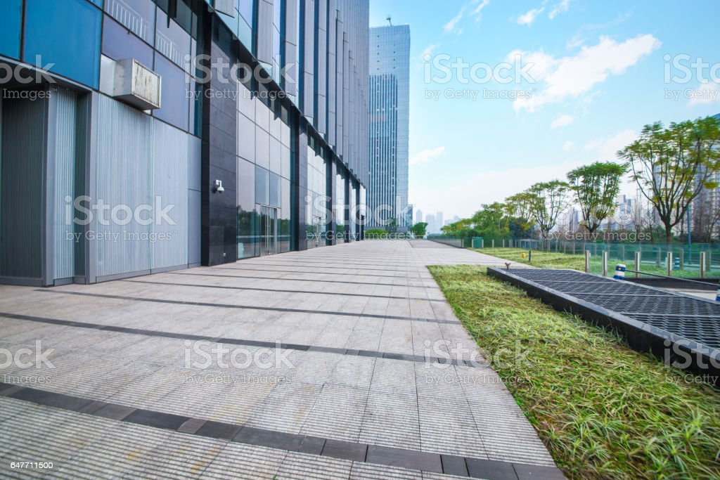 Windows of Skyscraper Business Office stock photo