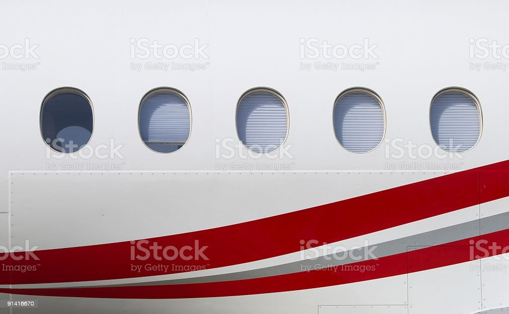 Windows of the plane royalty-free stock photo