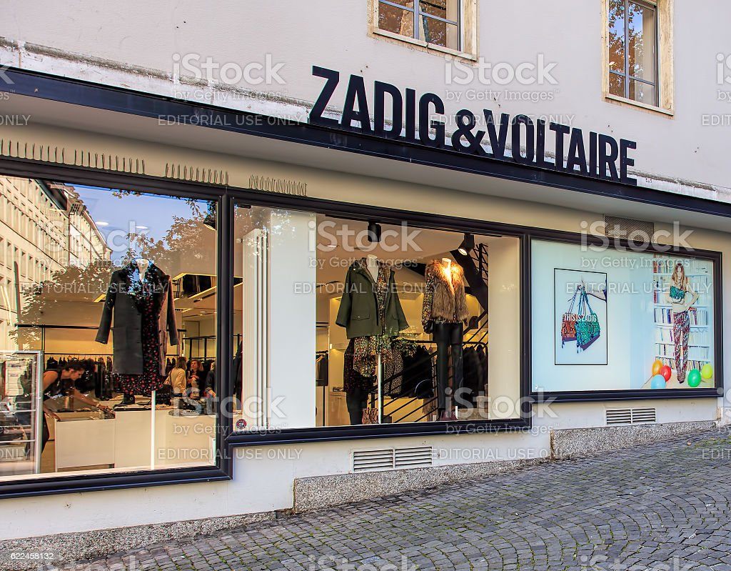 Windows of the Zadig & Voltaire store in Geneva stock photo