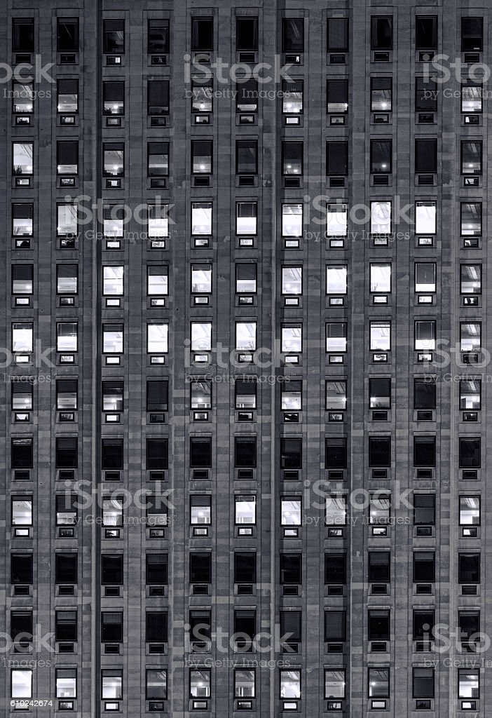 windows on a hight office building stock photo