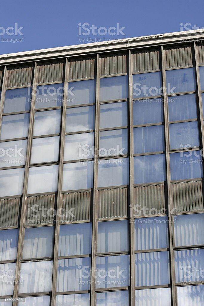Windows on an office building Namur Wallonia Belgium stock photo