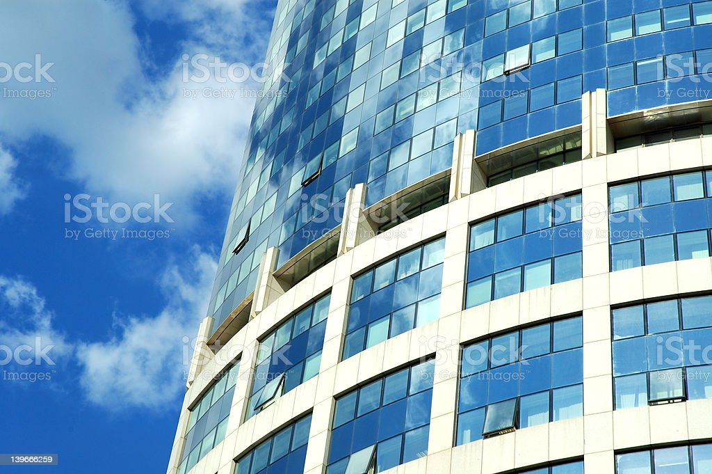windows on skyscraper royalty-free stock photo