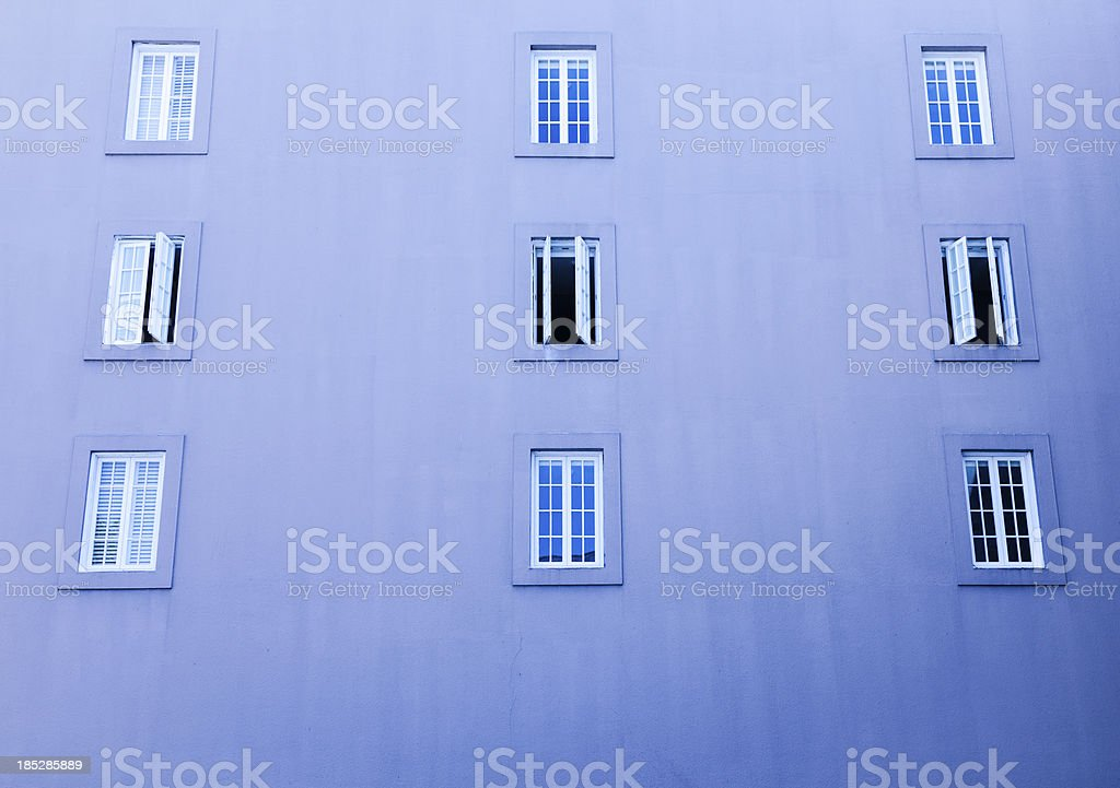 Windows on wall royalty-free stock photo