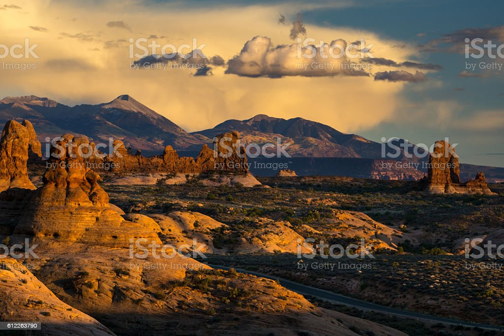 Windows Overlook, Arches National Park stock photo