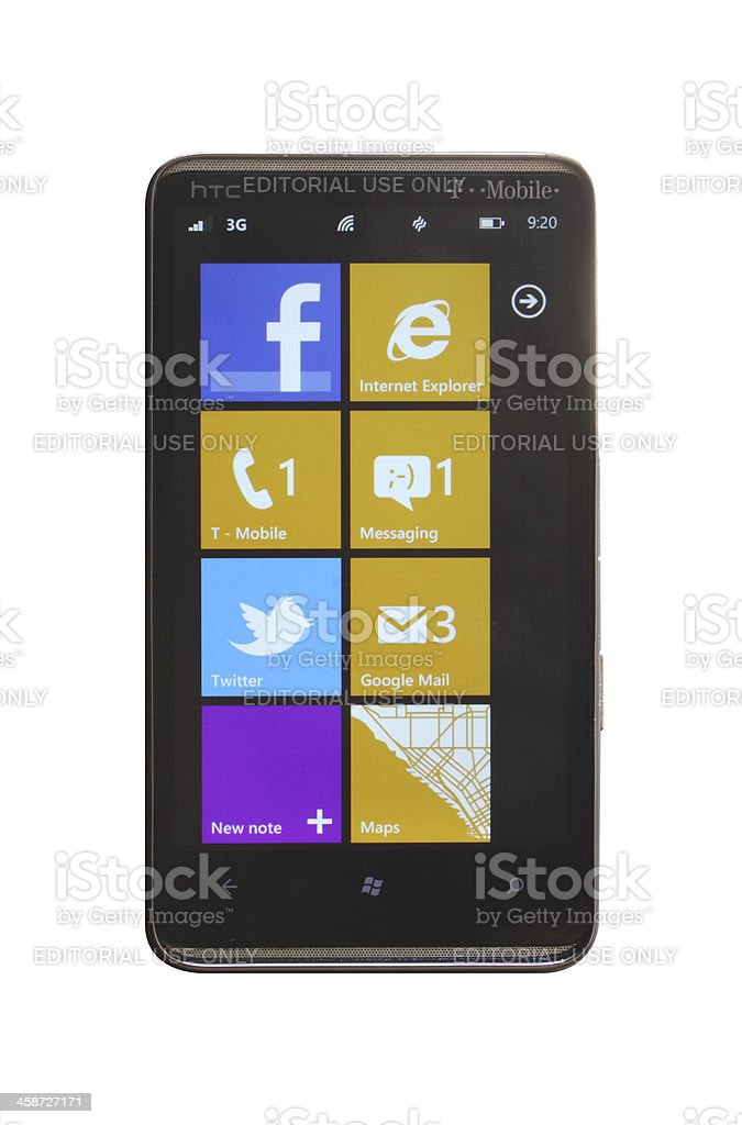 Windows Phone 7.5 Mango royalty-free stock photo