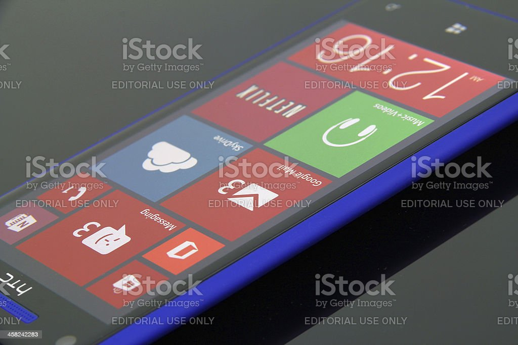 Windows Phone 8 stock photo