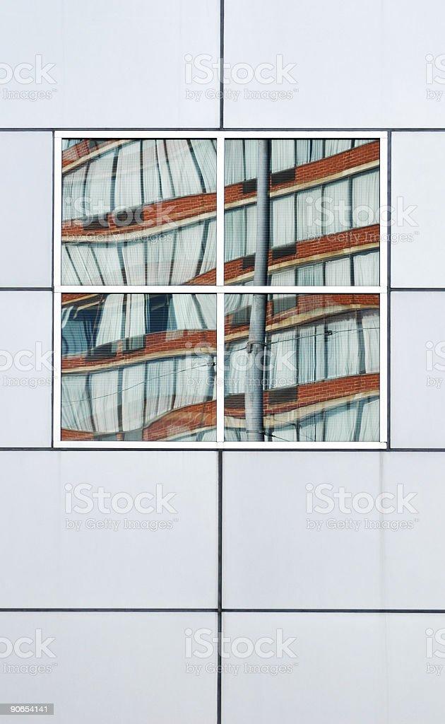 Windows Reflecting, Dayton, Ohio royalty-free stock photo
