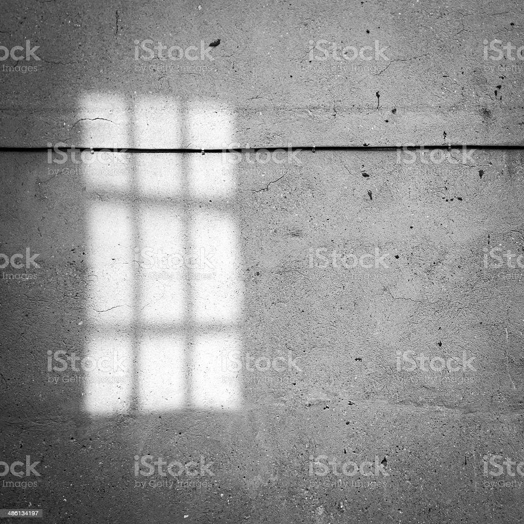 Windows shadow on the wall stock photo