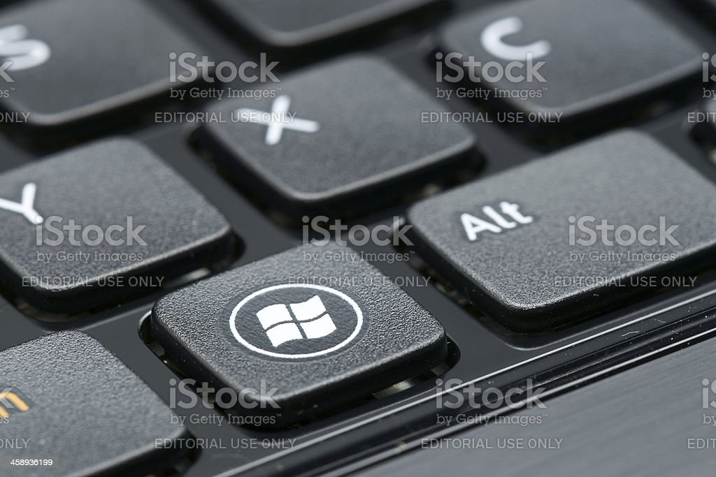 Windows sign on keyboard stock photo