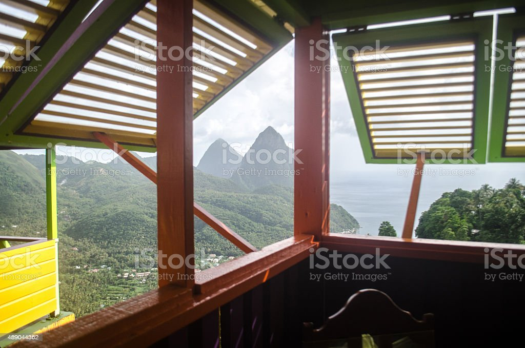 windows to a view of paradise stock photo