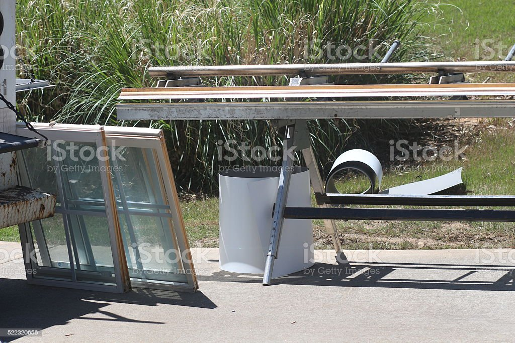 Windows Work stock photo