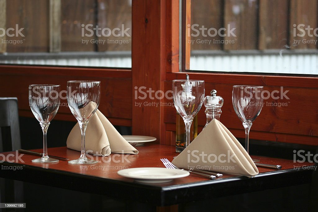 Windowside Dining stock photo