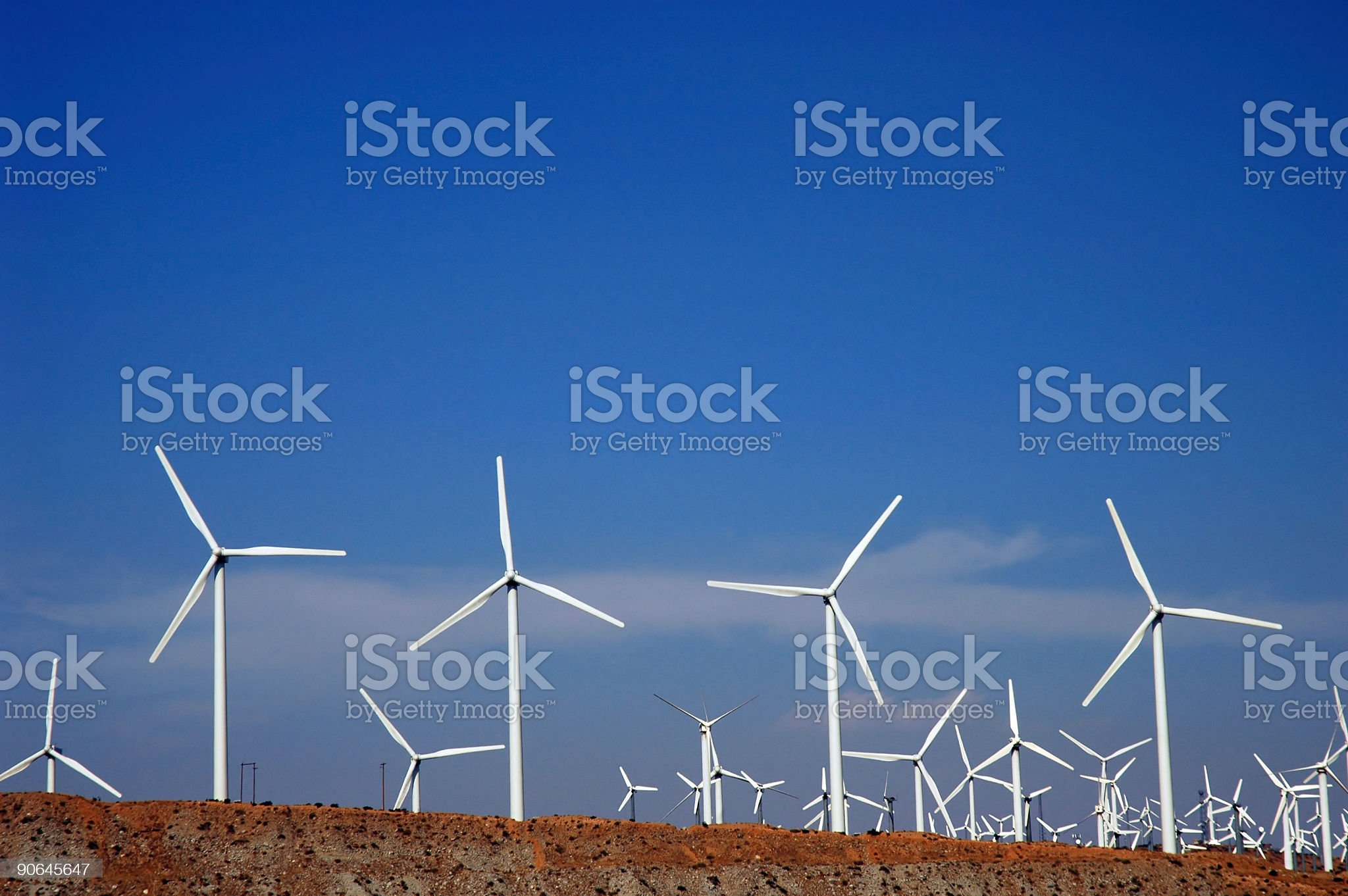 Windpower 1 royalty-free stock photo