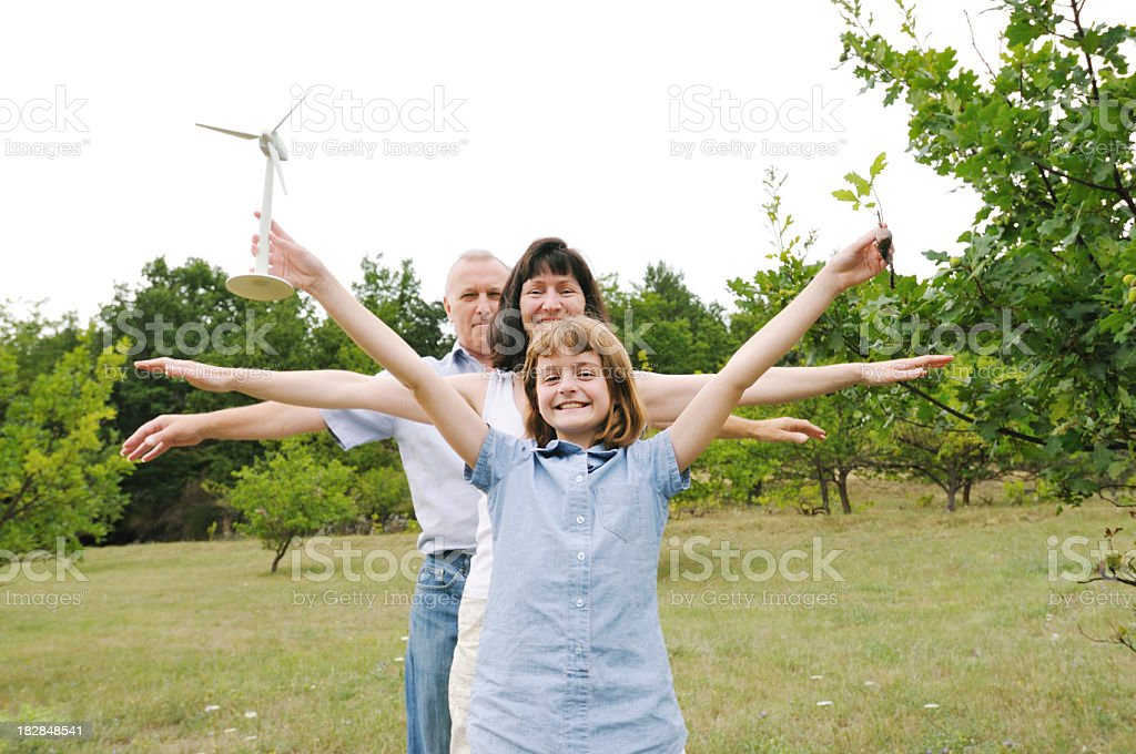 wind-powered family royalty-free stock photo