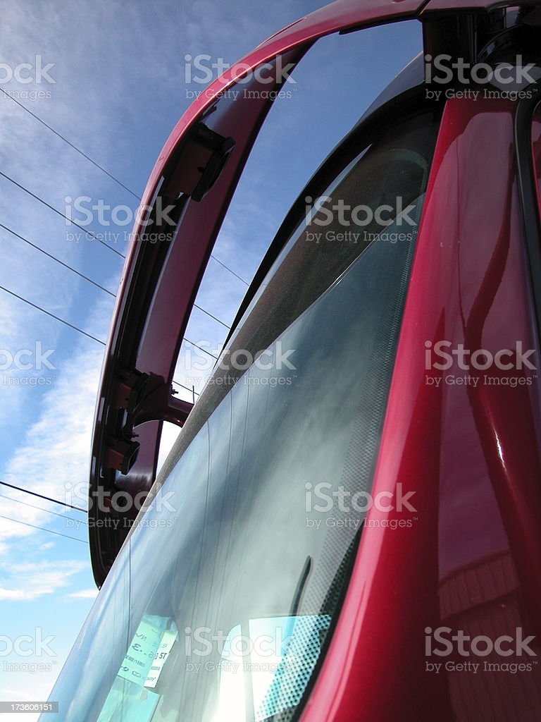 Windshield of Semi Truck royalty-free stock photo