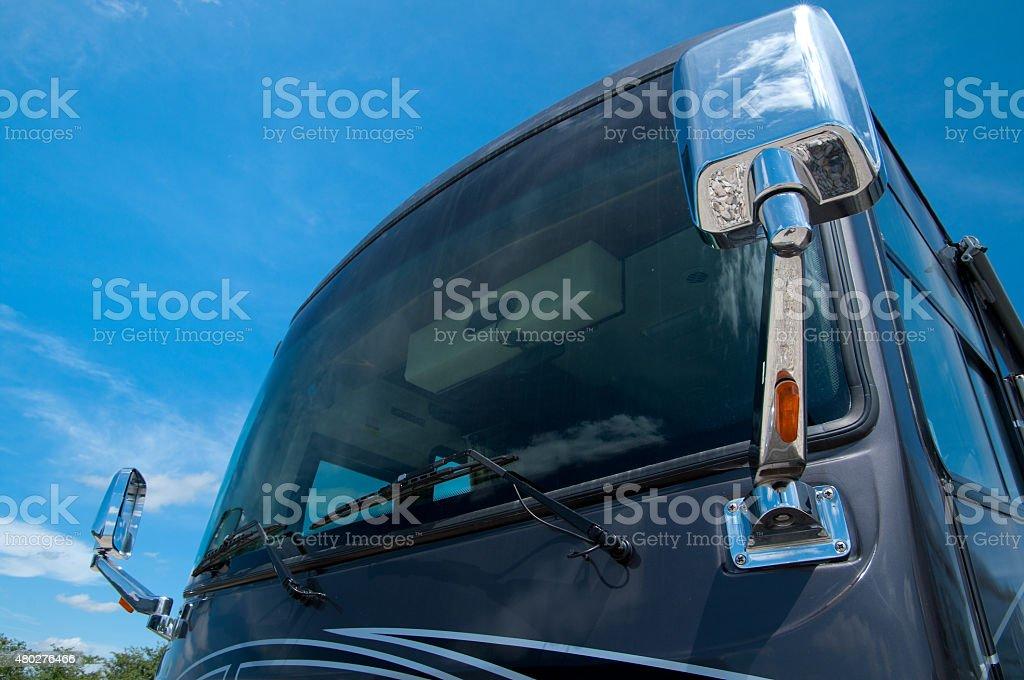 RV Windshield stock photo