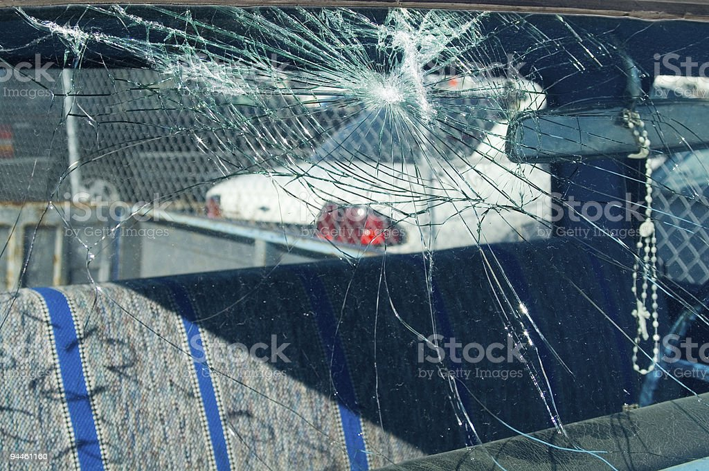 Windshield royalty-free stock photo