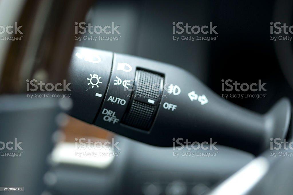 windshield wiper control stock photo