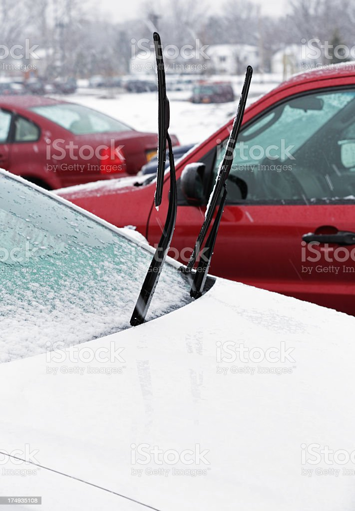 Windshield Wipers Propped Up stock photo